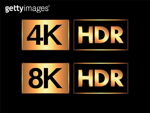 Gold Ultra HD / HDR 8K and 4K Sign Set
