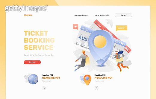 Ticket Booking Service Landing Page