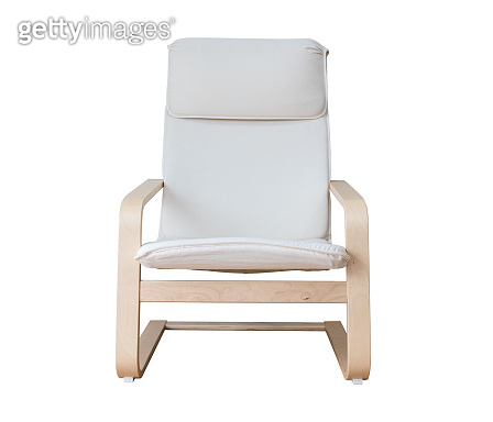 Modern designer White color chair isolated