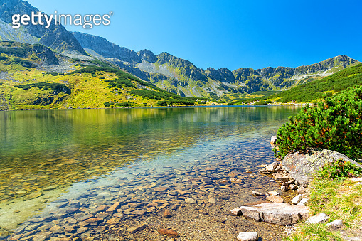 Summer in 5 lakes valley in High Tatra Mountain, Poland