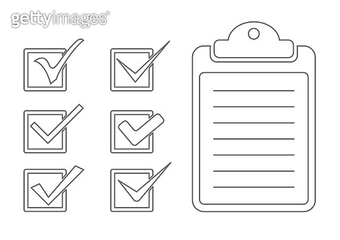 check list and mark icon