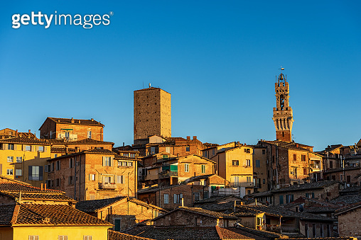 Torre del Mangia in Siena - Tuscany Italy