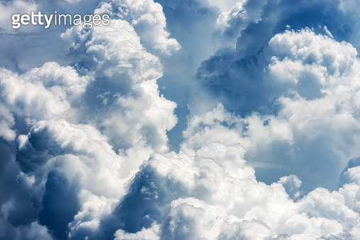 Detail of white clouds in the sky - Cumulonimbus