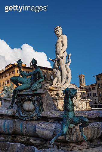 Fountain of Neptune - Roman God - Florence Italy