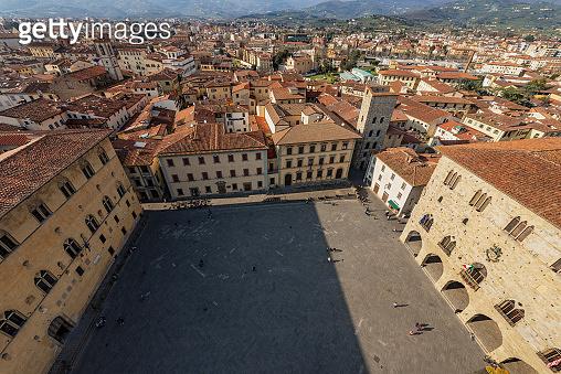 Aerial view of Pistoia city - Tuscany Italy