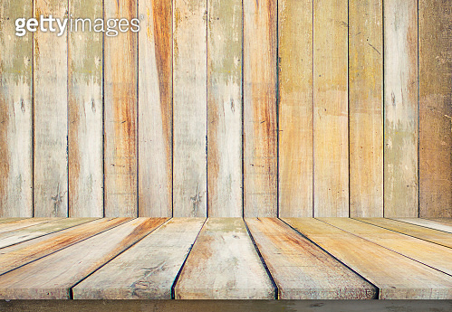 Old wood table floor background beautiful sheet vintage alignment texture with natural pattern