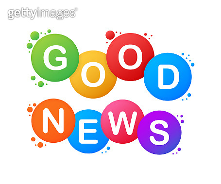 Good news. Word vector banner. Vector stock illustration.