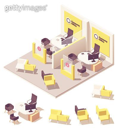 Vector isometric customer service department