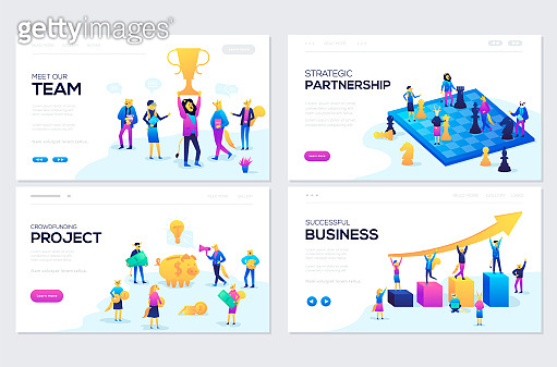 Website and mobile website development illustration concepts