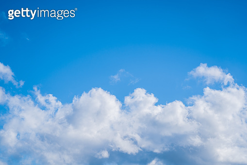 Blue Sky and clouds background; nature background