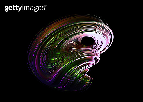 Abstract 3D Render of Twisted Shape