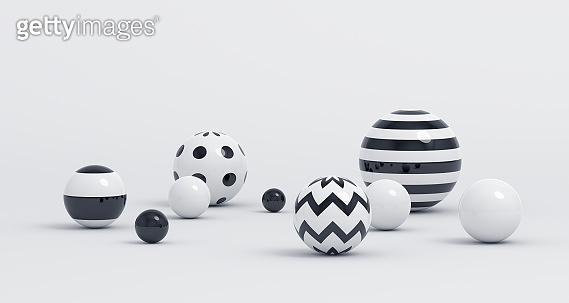 Abstract 3D Render of Spheres