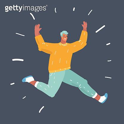 Man jump on dark.
