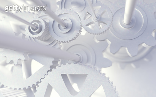 Industrial and engineering abstract background.3d illustration