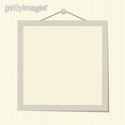 Empty photo frame flat vector illustration