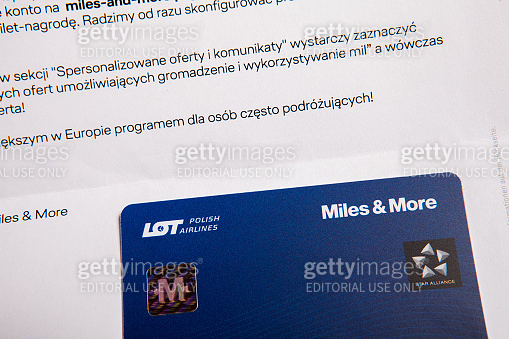 Miles & More a loyalty card issued by LOT Polish Airlines