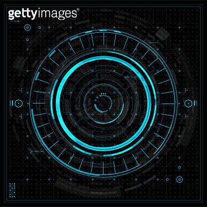 Futuristic graphic user interface.