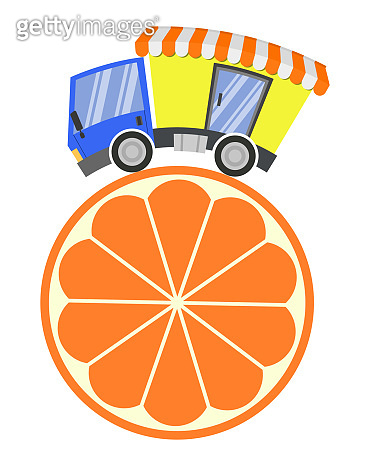 Delivery truck with shop and citrus