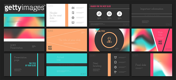 Presentation template design