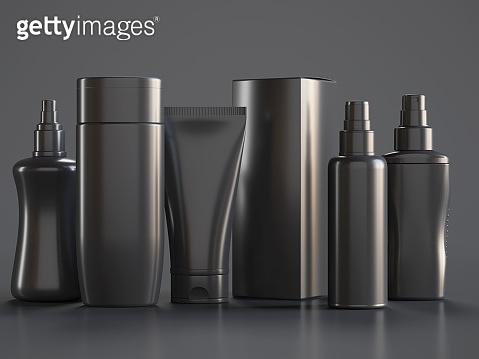 Cosmetic series black bottles