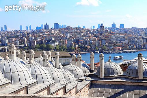 Aerial view on Galata Tower and Beyoglu district, Istanbul, Turkey