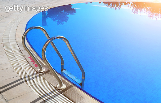 Swimming pool with stair outdoor