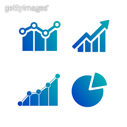 Simple set of diagram and graphs, business related vector icons for your design. Vector illustration isolated on white background