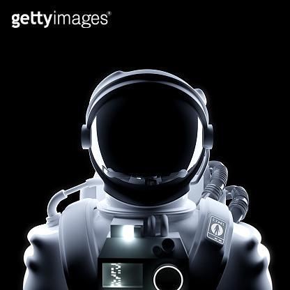 Futuristic Astronaut Space Suit Portrait