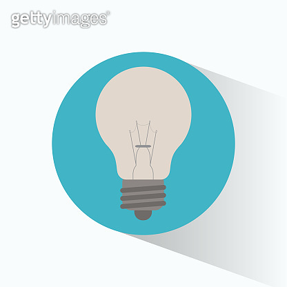 clean energy bulb white shadow