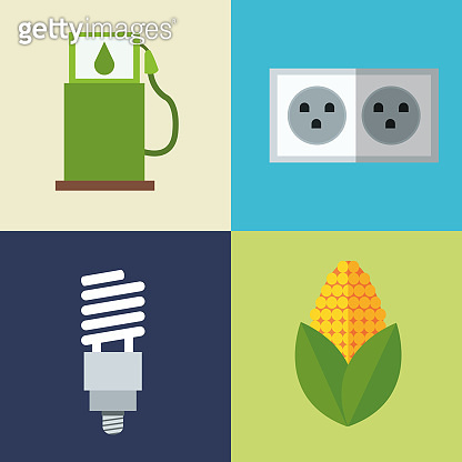 set alternative energy icons
