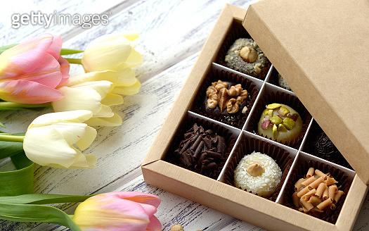 Handmade chocolate candies