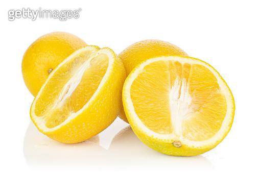 Fresh bright orange isolated on white