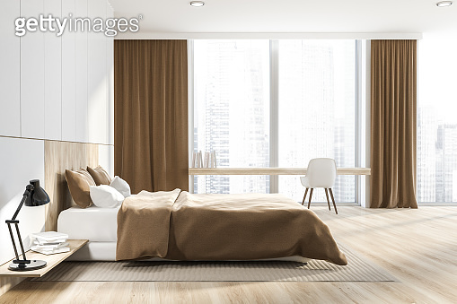 Master bedroom and home office interior