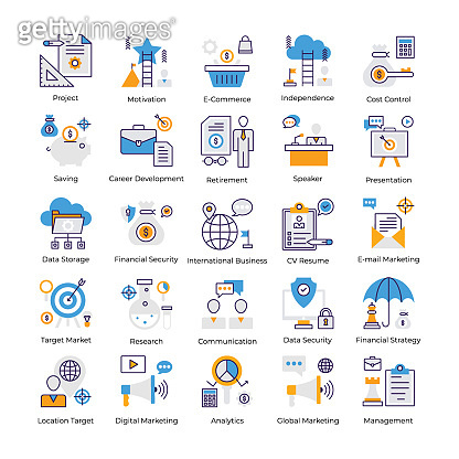 Business Analysis Flat Vectors Pack