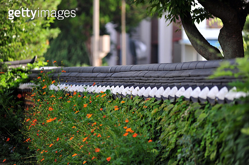 Wall of Hanok Village in Jeonju, South Korea