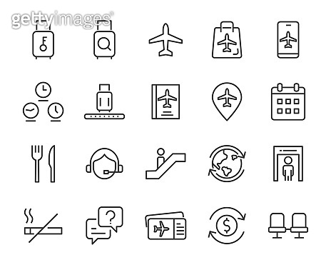 set of air port icons,travel, transport, plane