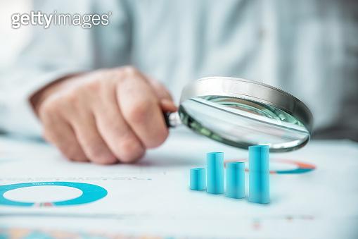 Finance chart table analyzing