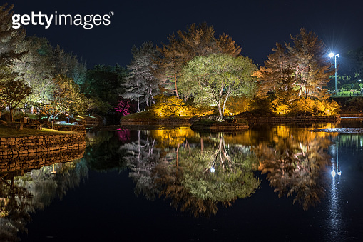 Anapji-Ponds on The edge of the former Silla fortress Banwolseong in Gyeongju