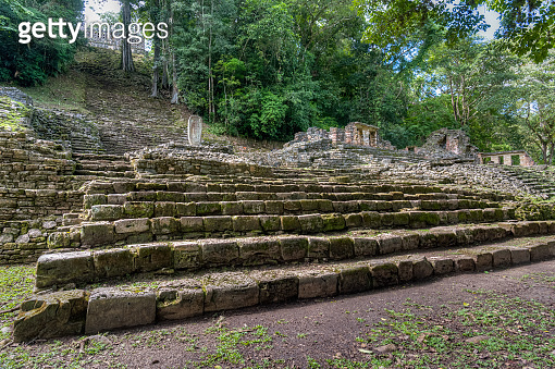 Yaxchilán is a historic Mayan city on the Usumacinta River between Mexico and Guatemala
