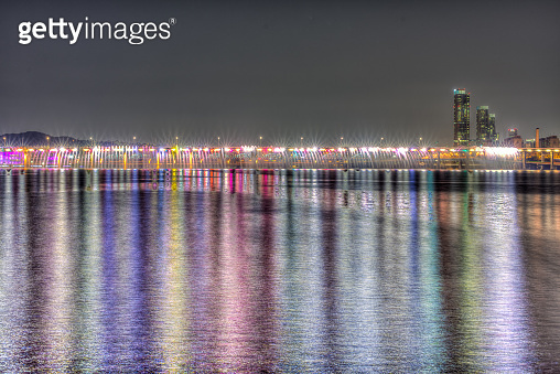 The Banpo Bridge over the Han River from Seocho to Yongsan in Seoul, Korea