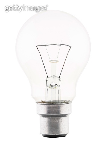 Light bulb isolated on white background with clipping path