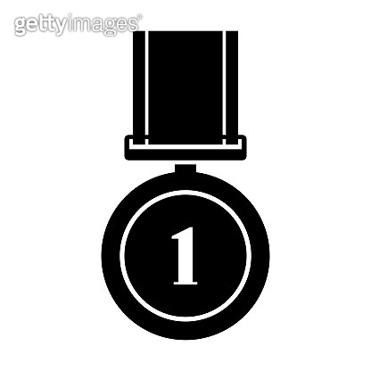 Medal icon isolated on white background