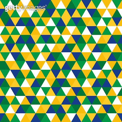 Geometric background in Brazil flag concept