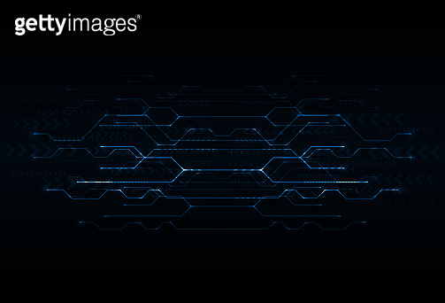 Blue circuit board vector. Abstract technology background