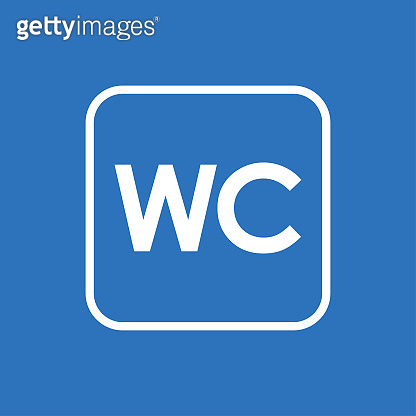 WC sign, line vector icons