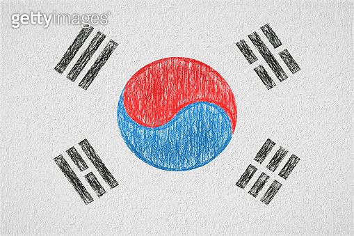 south korea painted flag