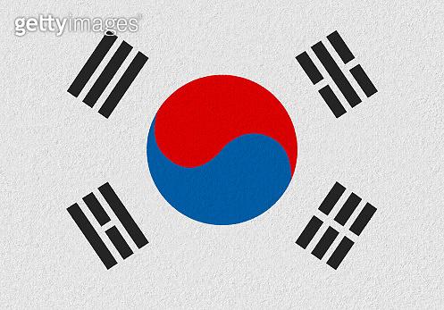 south korea paper flag