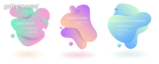 Liquid fluid abstract vector banner elements.