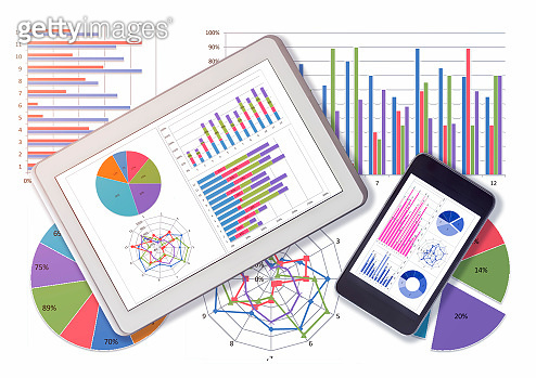 Financial data analyzing with Digital Tablet and Mobile phone