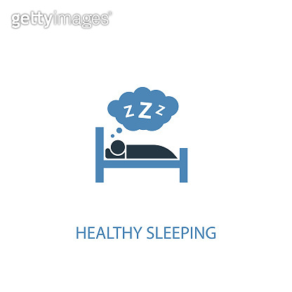 healthy sleeping concept 2 colored icon. Simple blue element illustration. healthy sleeping concept symbol design. Can be used for web and mobile UI/UX
